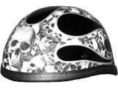 Helmet-Eagle Slvr Skull Flame