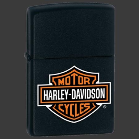 Zippo-Blk Harley-Davidson